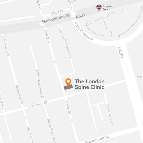 Map of The London Spine Clinic